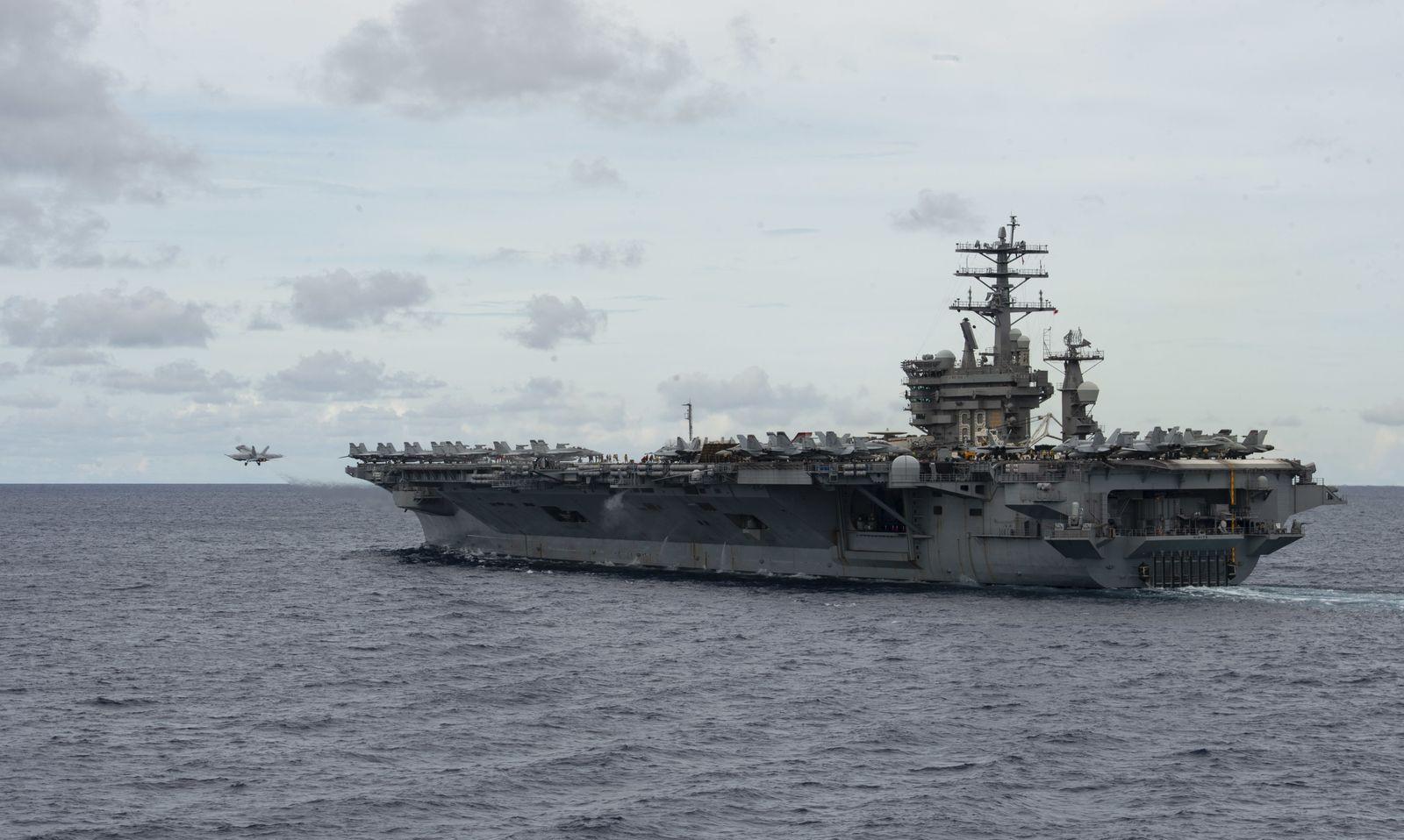 US Navy drills in South China Sea, At Sea - 09 Mar 2020