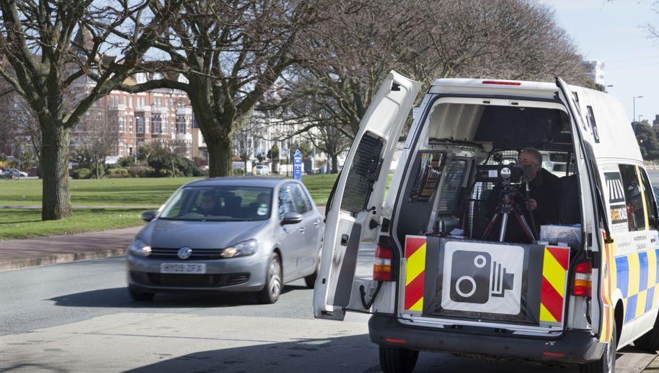 Polizei-Blitzanlage im britischen Portsmouth