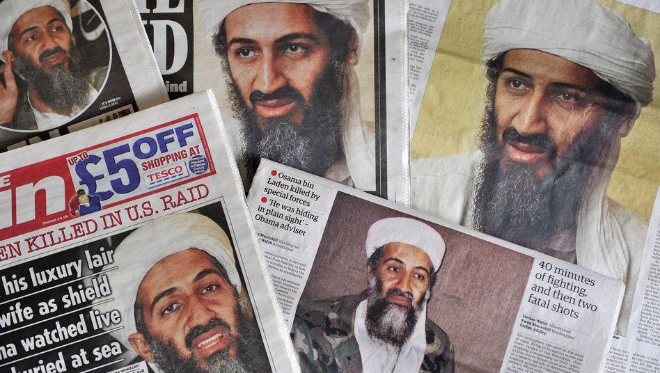 Titelblätter zum Tod von Osama Bin Laden: Der Qaida-Chef wurde im Mai 2011 getötet