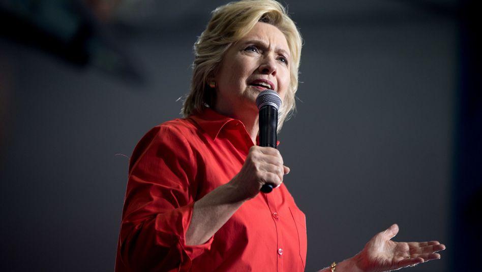 Präsidentschaftskandidatin Clinton