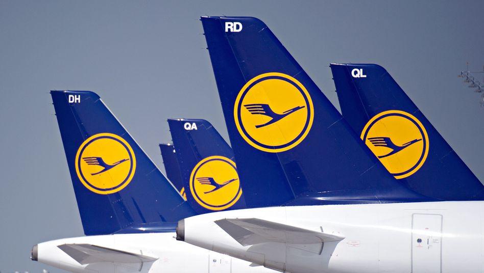Lufthansa-Maschinen am Flughafen München