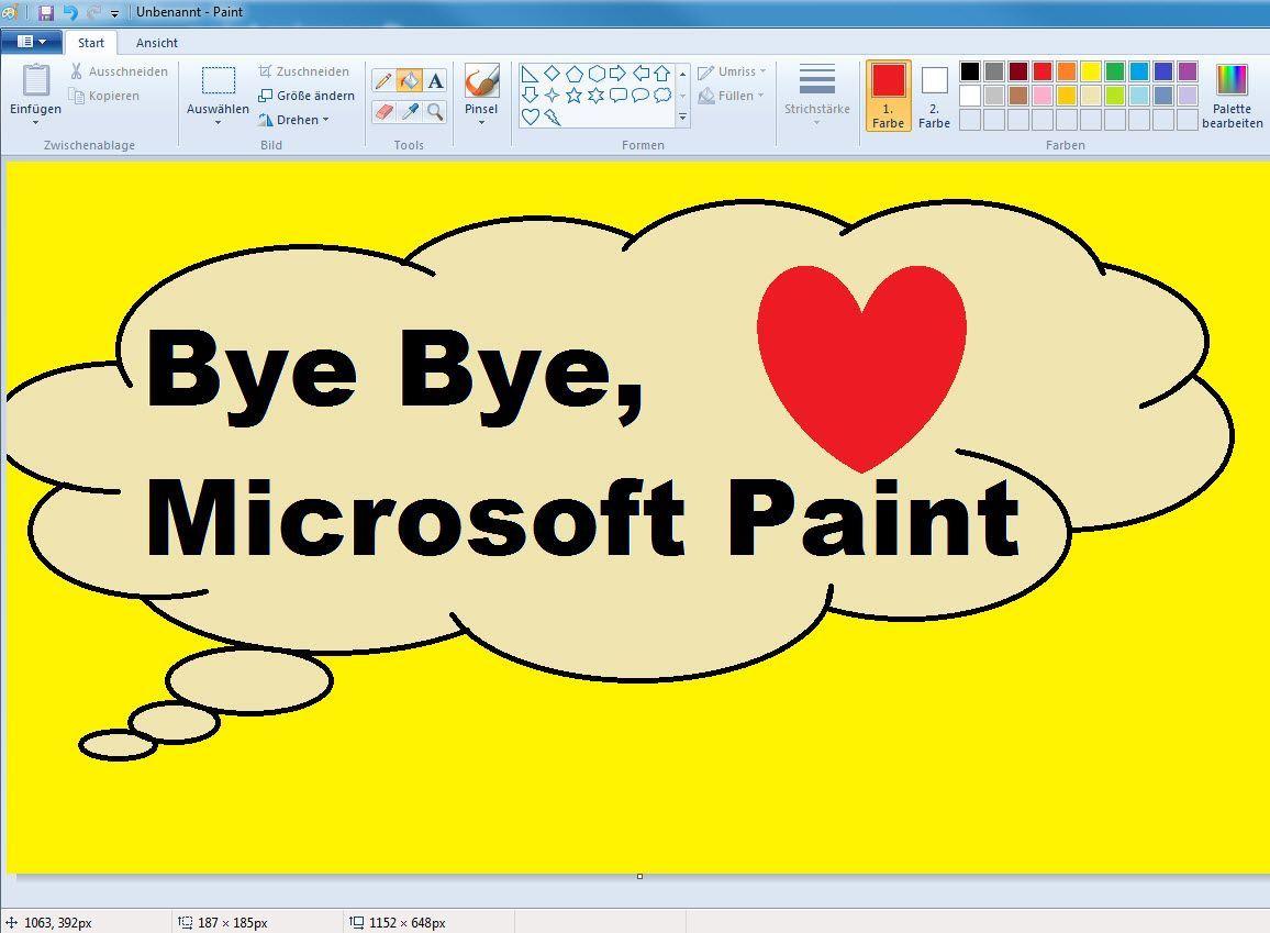 EINMALIGE VERWENDUNG Screenshot/ Microsoft Paint