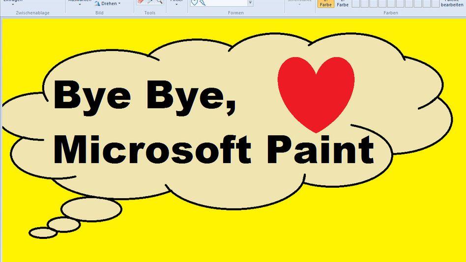 Abschiedsbild, erstellt mit Microsoft Paint