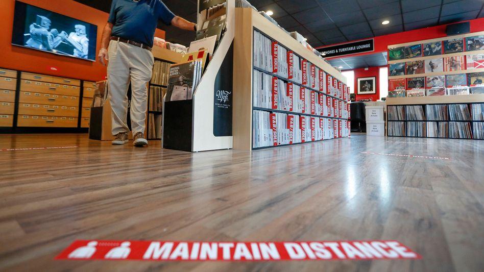 Leerer Plattenladen in Pittsburgh (Symbolbild): Der US-Einzelhandel leidet unter der Corona-Pandemie