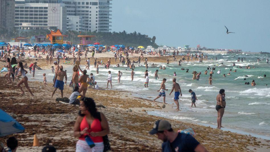 Corona? Egal! Der Strand von Miami Beach