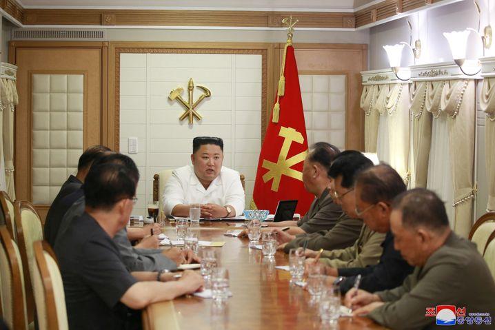 Gibt den Krisenmanager: Nordkoreas Machthaber Kim Jong Un