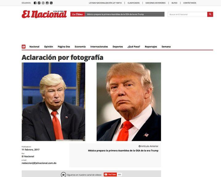 """Entschuldigung von """"El Nacional"""""""