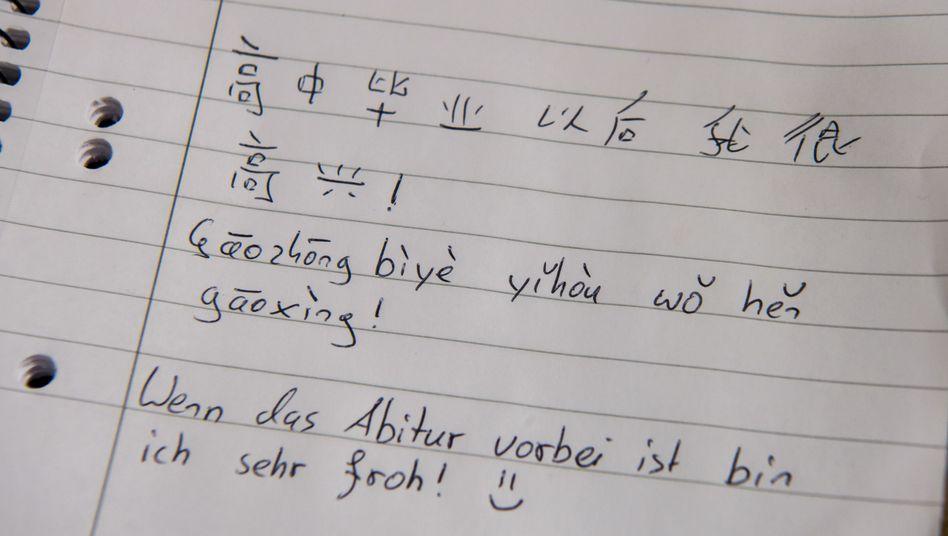 Chinesisch-Unterricht an einem deutschen Gymnasium