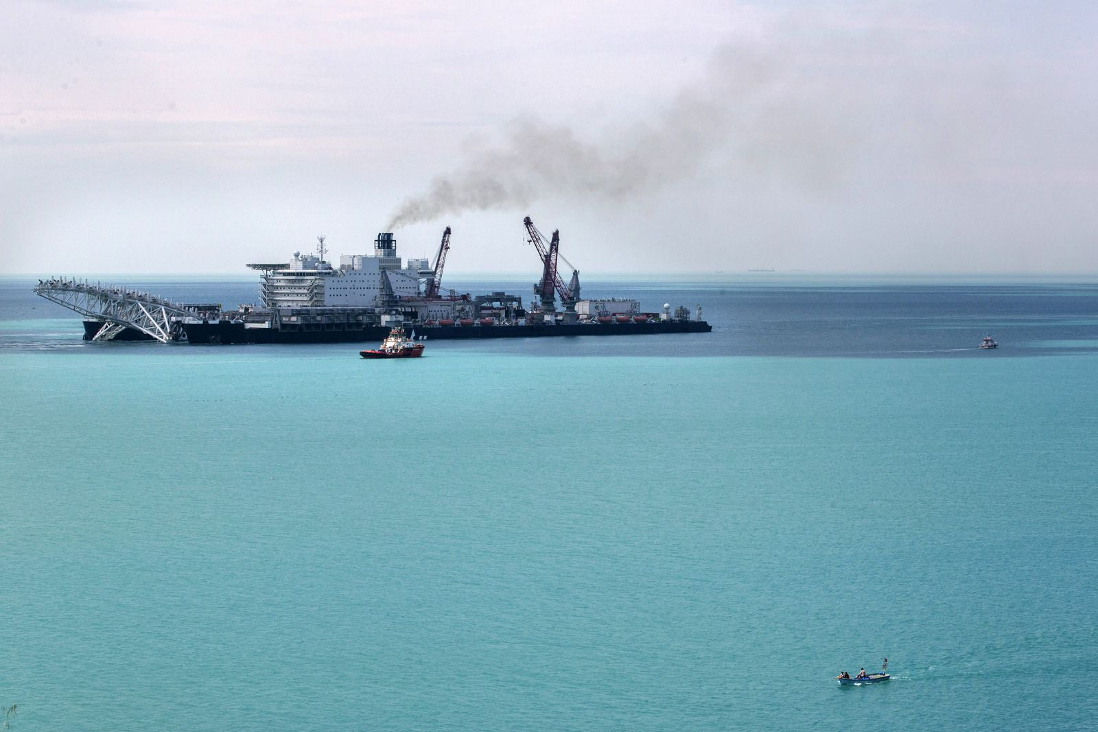 TURKEY-RUSSIA-TRANSPORT-CONSTRUCTION-OIL