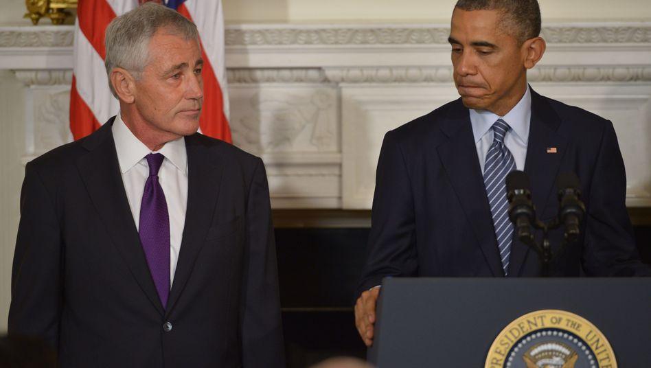 """Minister Hagel, Präsident Obama: """"Beispielhaft"""""""