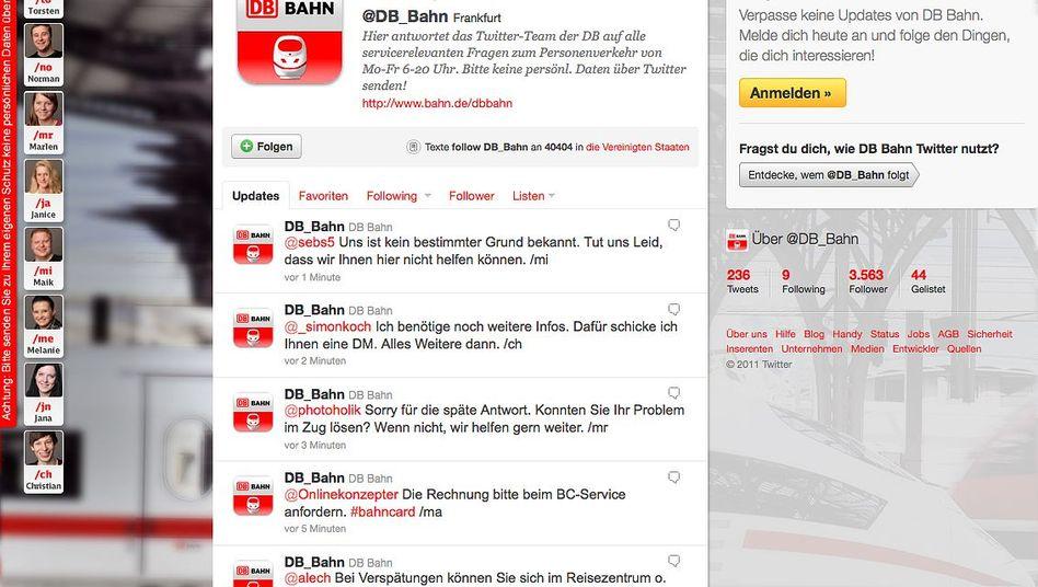 Deutsche Bahn bei Twitter: Acht Mitarbeiter kümmern sich um die Kunden-Kommunikation