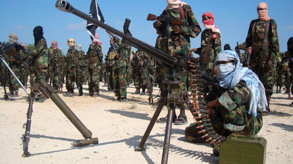 Kämpfer der al-Shabaab-Miliz: Kontrolle über die somalische Stadt Dhusamareb