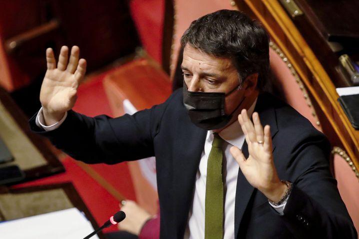 Herausforderer Renzi: Je tiefer er in Umfragen sank, desto lauter wurde er