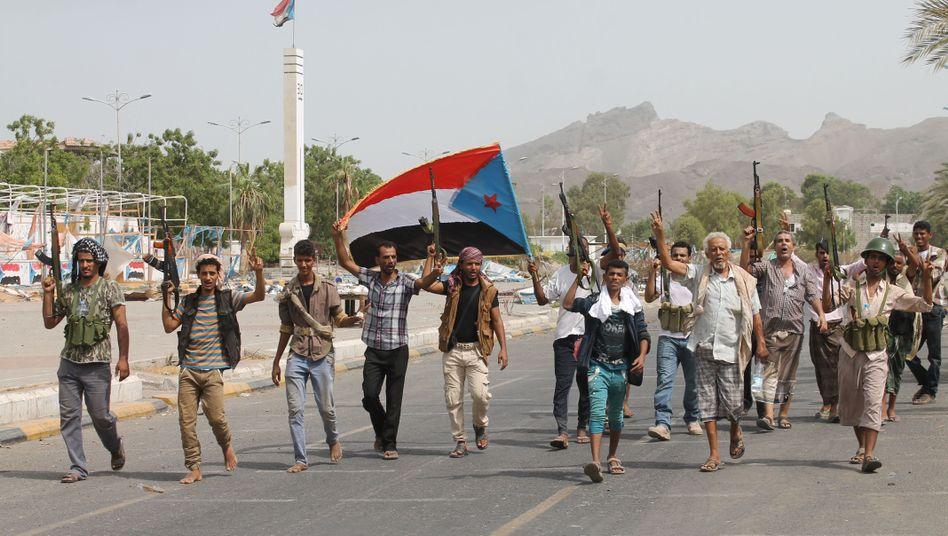 Regierungstreue Kämpfer in Aden: Erfolge im Süden Jemens