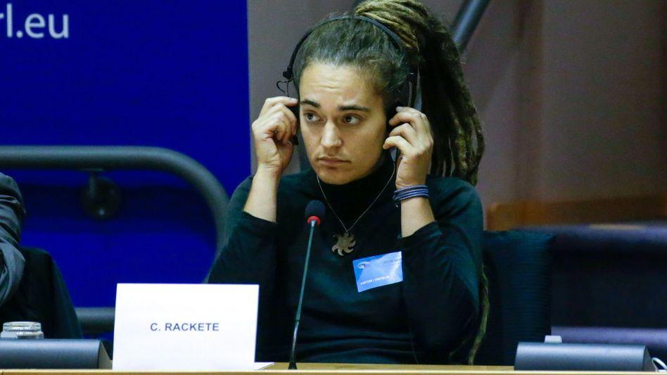 """Carola Rackete bei ihrem Auftritt in Brüssel: """"Libyen ist kein sicherer Hafen."""""""