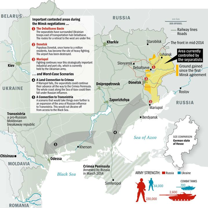 Map of Ukraine Conflict Zones