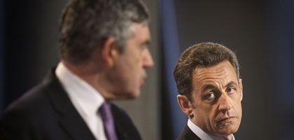 Britischer Premier Brown, Frankreichs Präsident Sarkozy: Wer ist der Erste, Größte und Wichtigste?