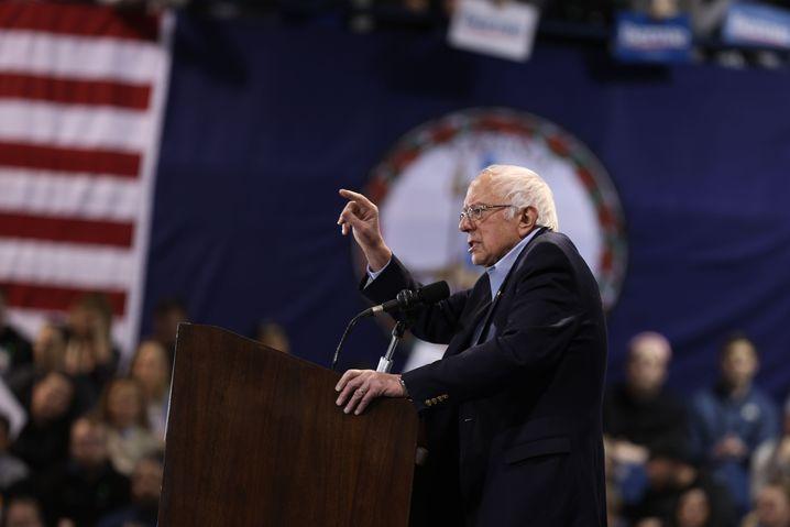 """""""Als nächstes geht's in den 'Super Tuesday'"""": Bernie Sanders am Samstag in Virginia"""
