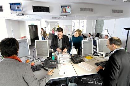 Spiegel Online offices, journalists' work will soon be made more difficult due to proposed data retention legislation.