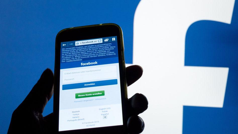 Facebook-Anmeldeseite