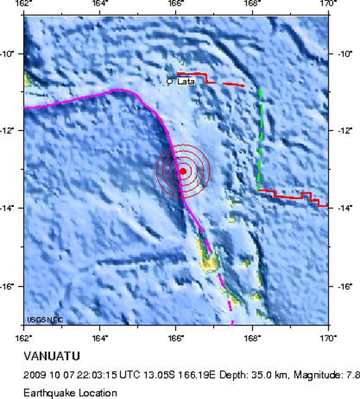 tsunami vanuatu karte