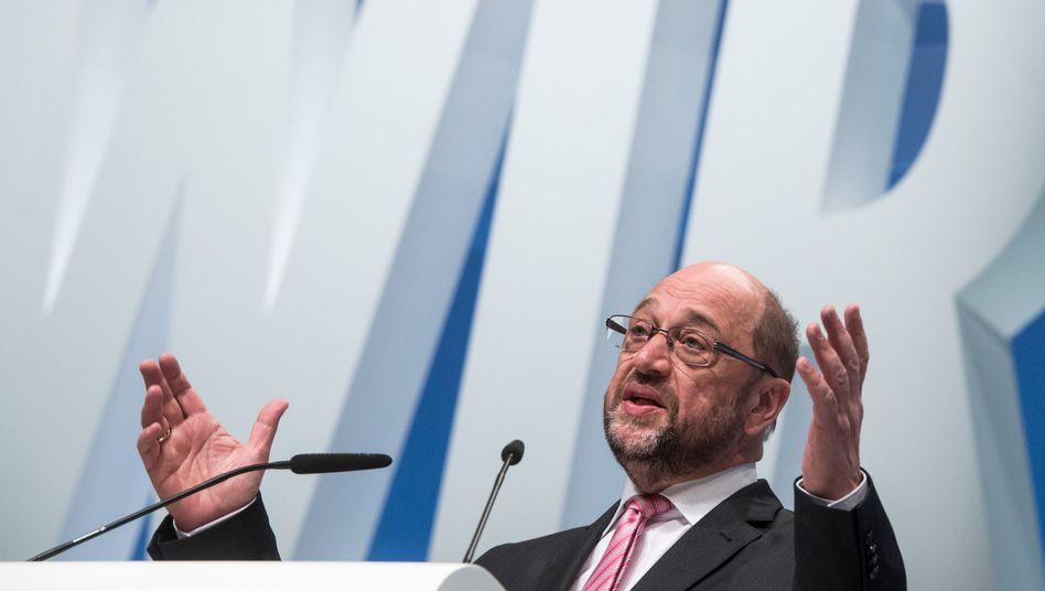 SPD-Chef Schulz (in Münster)