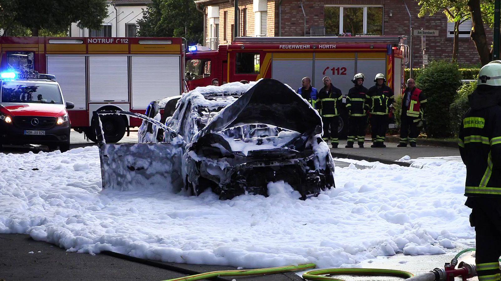 Verletzte bei Auto-Explosion