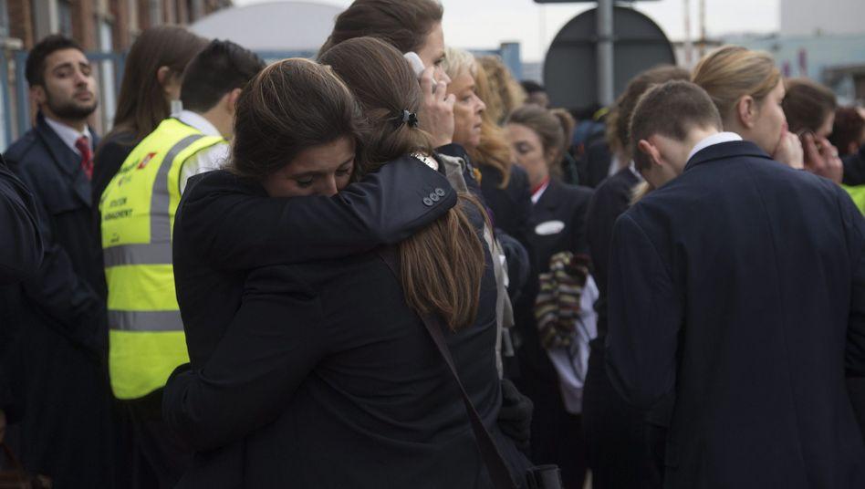 Trauer am Flughafen in Brüssel