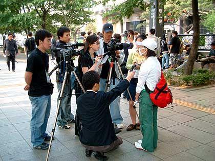Für Südkorea ungewöhnlich: Schüler gehen an die Öffentlichkeit