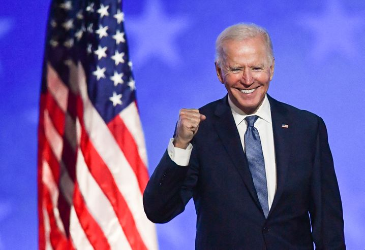 """U.S. President-elect Joe Biden: """"It's time to put the anger and the harsh rhetoric behind us."""""""