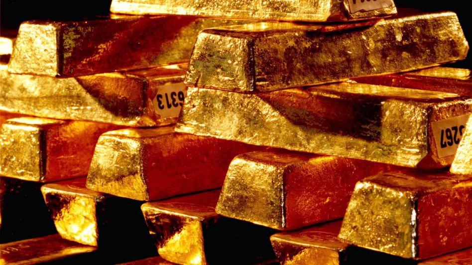 Goldbarren in einem Safe der Bundesbank: Reserven in aller Welt