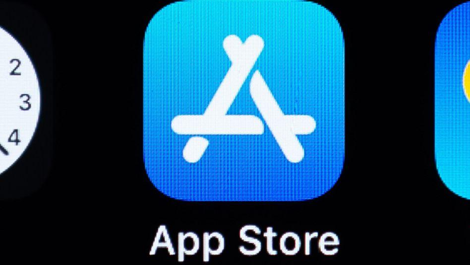 App-Store-Logo auf einem iPhone