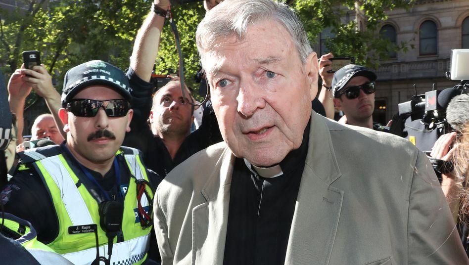 George Pell im Februar 2019 in Melbourne: Der 78-Jährige kann nach jetzigem Stand frühestens im Jahr 2022 aus der Haft entlassen werden