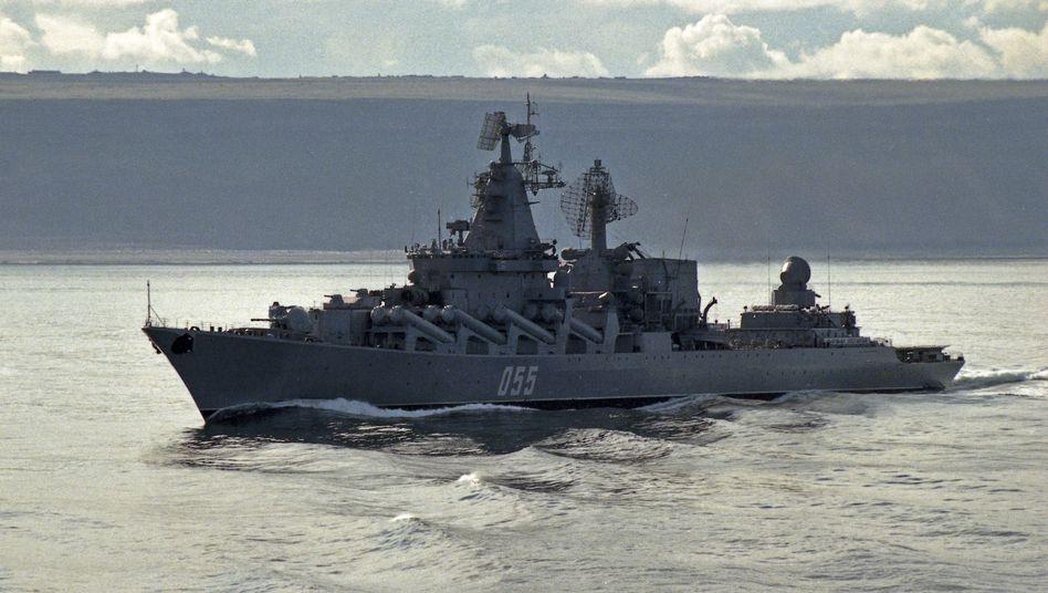 Russischer Raketenkreuzer in der Barentssee: Arktische Aufrüstung