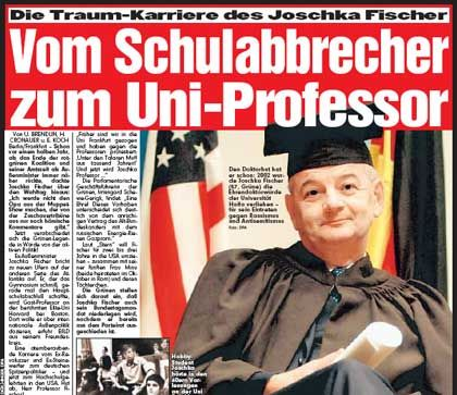 Earlier this year, the German tabloid Bild reported that Fischer was considering a future in the Ivy League.
