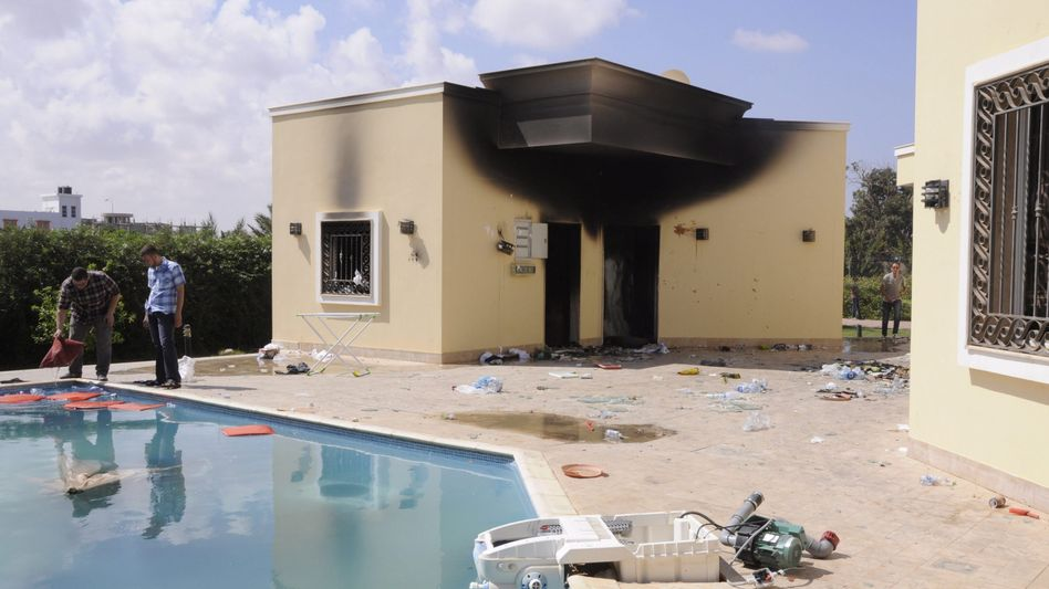 Beschädigtes US-Konsulat in Bengasi (im September 2012): Neue Diplomatenaussage