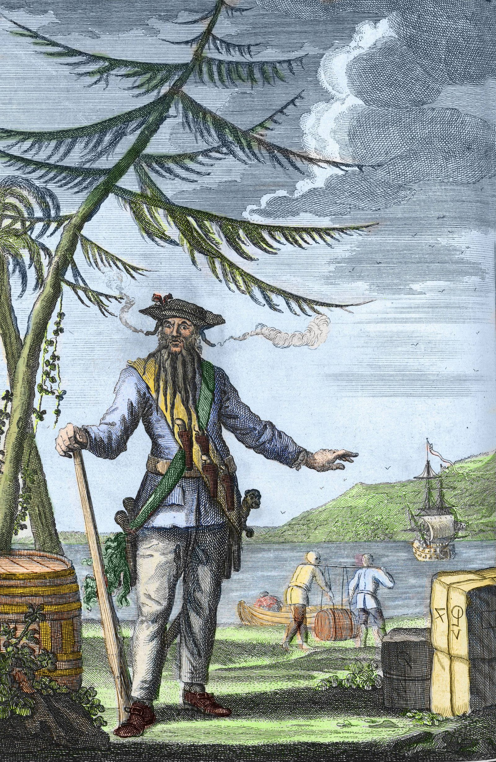 Edward Blackbeard Teach 1680 1718 Capitaine Edward Teach Thatch dit Barbenoire Barbe Noire