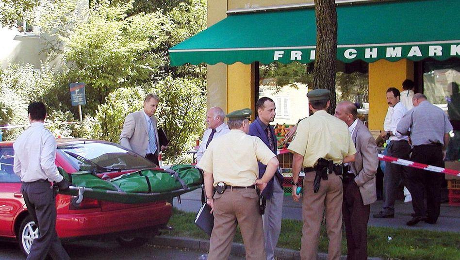 Tatort im Münchner Vorort Ramersdorf (Archivbild, 2001): Verdächtige Radfahrer gesichtet