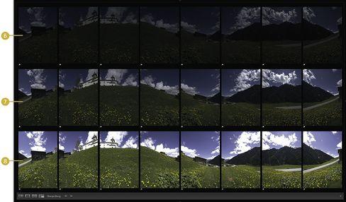 Alpen in Graubünden: Aufnahmen für ein zylindrisches HDR-Panorama