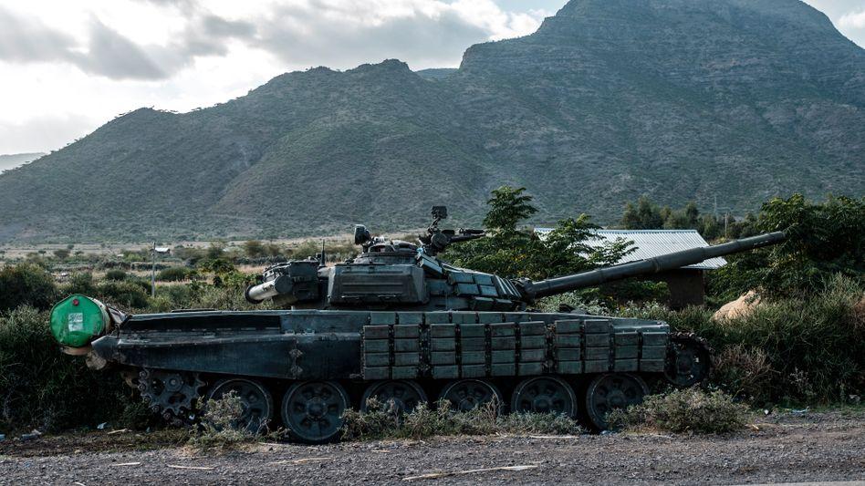Panzer in der Region Tigray