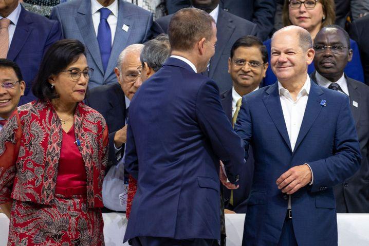 Olaf Scholz auf der Jahrestagung des IWF und der Weltbank