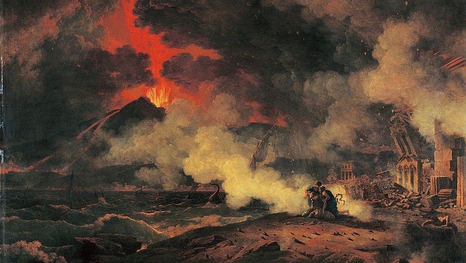 Pierre-Henri de Valenciennes: »Vesuvausbruch mit dem Tod des Plinius«, 1813