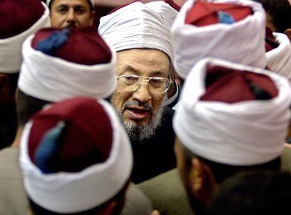 Egyptian Muslim scholar Sheikh Yusuf al-Qardawi is a major Muslim television voice.