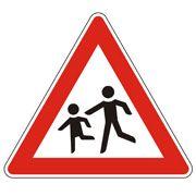 Achtung: Dieses Verkehrszeichen warnt vor Kindern im Straßenverkehr