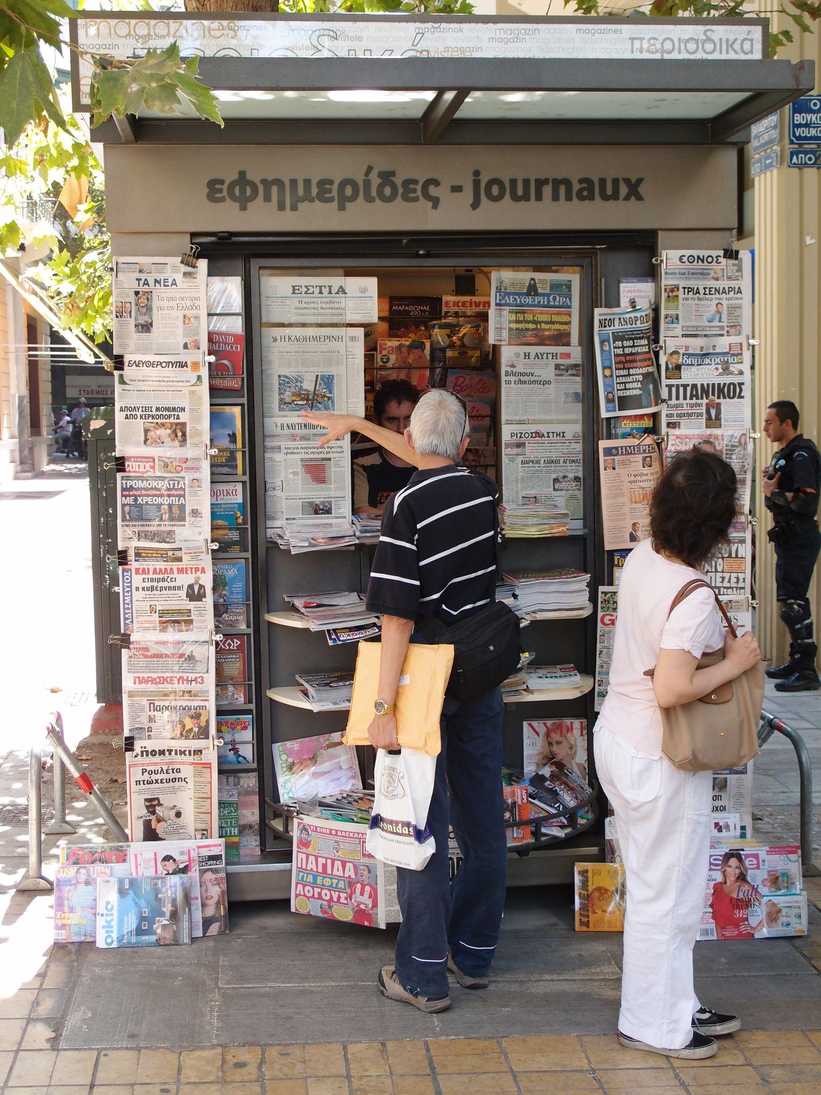 Griechenland/ Athen/ Presse