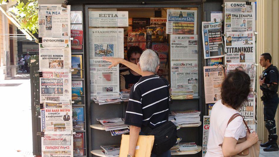 Kiosk in der Athener Innenstadt: Kaum höherer Wahrheitsgehalt als Homers Sagen