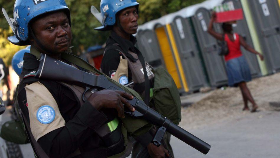Cholera in Haiti: Uno-Soldaten setzen Tränengas gegen Demonstranten ein