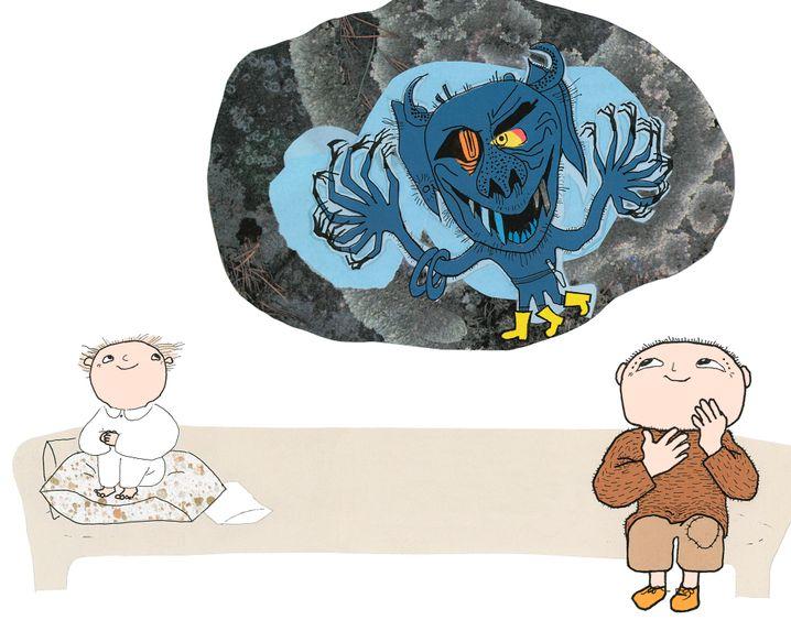 Illustration aus Willi-Wiberg-Buch: »Mehr Monster, Willi Wiberg«