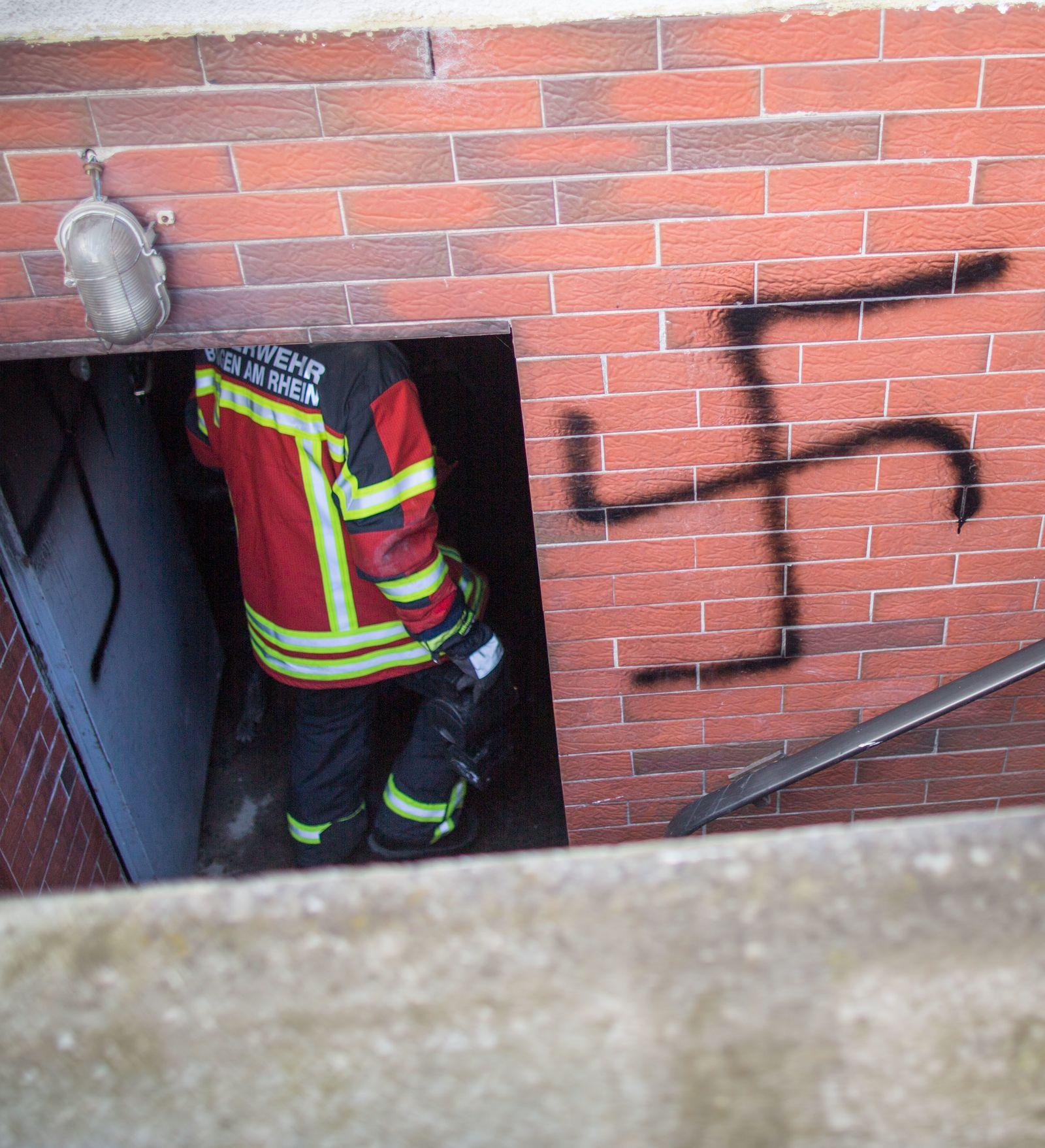 Brand in Haus mit Zuwanderern