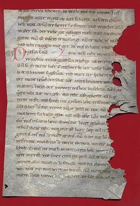 """Entdeckte """"Tristan""""-Handschrift: Als Buchumschlag recycelt"""